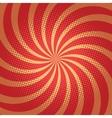 Red spiral pop art background vector image