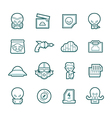 Science fiction icons vector image