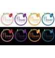 set of emblems of flower boutique vector image