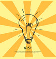 symbol of idea electric bulb sketch with light vector image