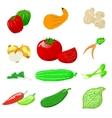 Vegetables photo realistic set vector image