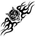 Wolf and symmetric tribals vector image