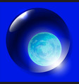 world water day planet earth in water drop vector image