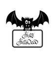 Happy Halloween Bat vector image