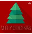 Christmas tree greeting card template vector image