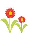 Cartoon flower background vector image vector image