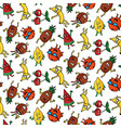 crazy fruit pattern vector image