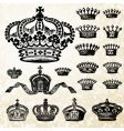 victorian crown set vector image vector image