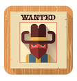 Wanted poster icon flat style vector image