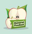 apple natural product market design vector image