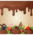 Chocolate sweets background vector image