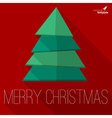 Christmas tree greeting card template vector image