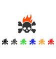 death fire icon vector image