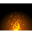 fire sparkling background vector image