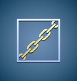 Icon chain Flat graphics vector image
