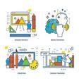 modern training design training training brain vector image
