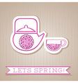 Motivation List Design With Flower Tea vector image