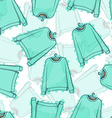 Seamless pattern of transparent blue sweatshirts vector image