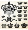 Victorian crown set vector image