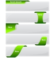 Web button with green ribbon vector image