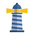 cartoon flat lighthouse vector image