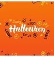 Halloween Lettering Greeting Postcard vector image