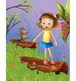 Cartoon Beaver Girl vector image