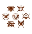 Baseball emblems set vector image vector image