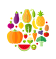 Healthy lifestyle design element with fruits vector image