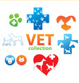 vet collection vector image vector image