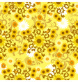 sunflower pattern vector image