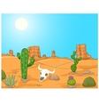 Cartoon desert landscape wild west vector image