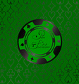 Background with casino chips vector image