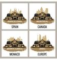 Set vintage poster Grand Prix Barcelona Spain vector image