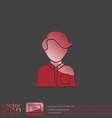 A male or female avatar Man or woman avatar sign vector image