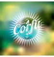 Best Summer in Corfu with typographic design vector image