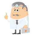doctor with case vector image