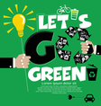 Go Green Concept EPS10 vector image