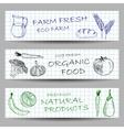 Hand drawn farm banners vector image