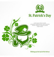 leprechaun lucky symbols text vector image
