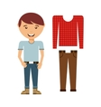 male fashion wear icon vector image