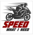 Sport Motorcycle graphic for t shirt vector image