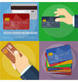 Using and operating credit cards vector image