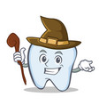 witch tooth character cartoon style vector image