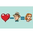Broken heart minus man equals angry woman vector image