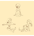 Hand draw doll set vector image