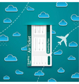 Air ticket on sky background vector image vector image