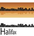 Halifax skyline in orange background vector image vector image