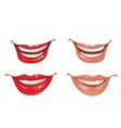 Smiling lips of the mouth vector image vector image