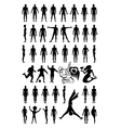 Man woman set silhouettes vector image